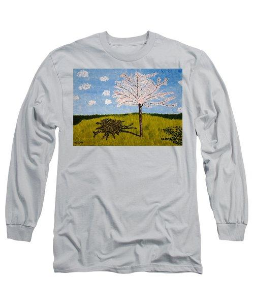 Cherry Blossom Tree Long Sleeve T-Shirt by Valerie Ornstein