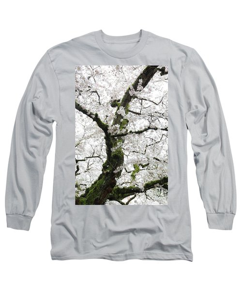 Long Sleeve T-Shirt featuring the photograph Cherry Blossoms 119 by Peter Simmons