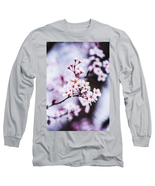 Long Sleeve T-Shirt featuring the photograph Cherry Blossoms by Parker Cunningham