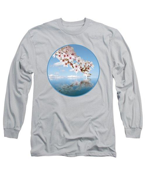Cherry Cascade Reflection Long Sleeve T-Shirt