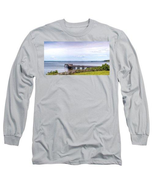 Chesapeake Bay Maryland Panorama Long Sleeve T-Shirt