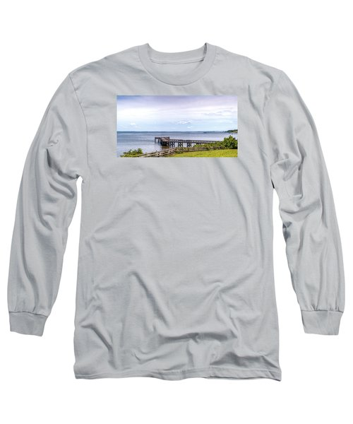 Chesapeake Bay Maryland Panorama Long Sleeve T-Shirt