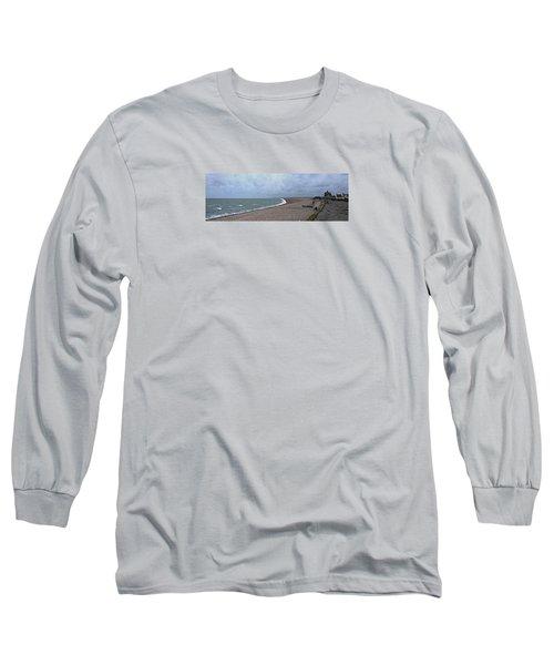 Chesil Beach November 2013 Long Sleeve T-Shirt by Anne Kotan
