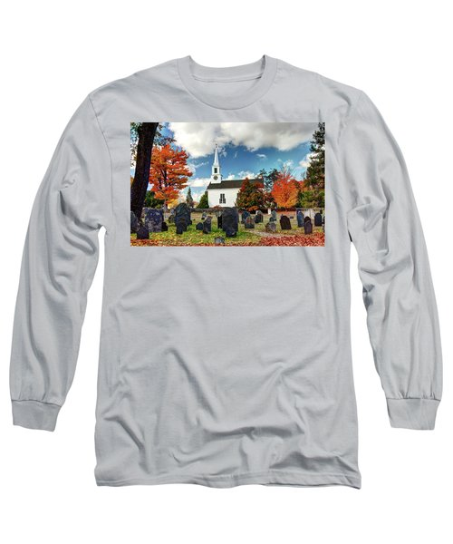 Chester Village Cemetery In Autumn Long Sleeve T-Shirt