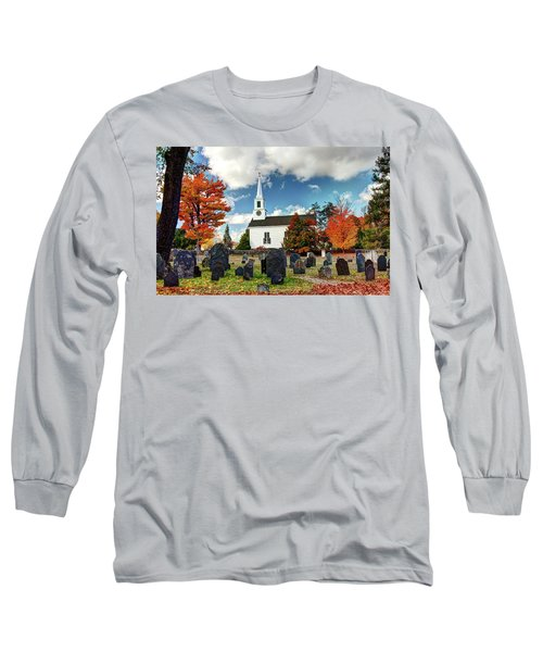 Long Sleeve T-Shirt featuring the photograph Chester Village Cemetery In Autumn by Wayne Marshall Chase