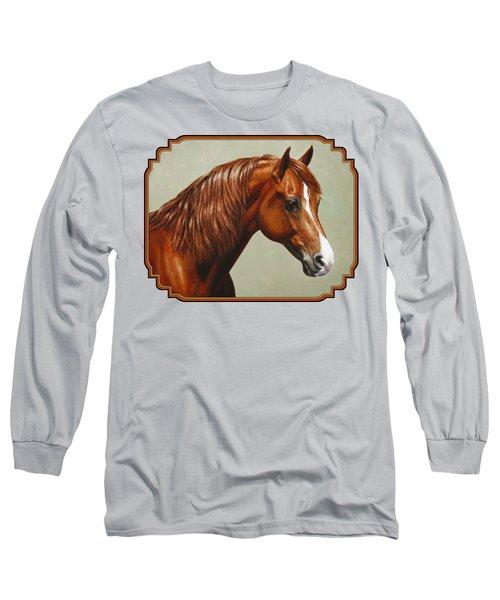Chestnut Morgan Horse Phone Case Long Sleeve T-Shirt
