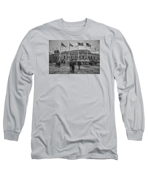 Chicago Bears Soldier Field Black White 7861 Long Sleeve T-Shirt by David Haskett