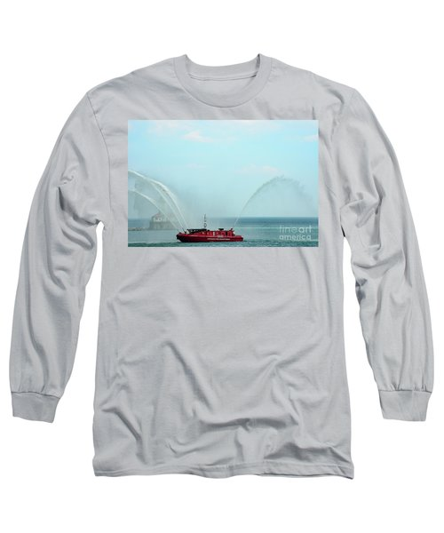 Chicago Fire Department Fireboat Long Sleeve T-Shirt