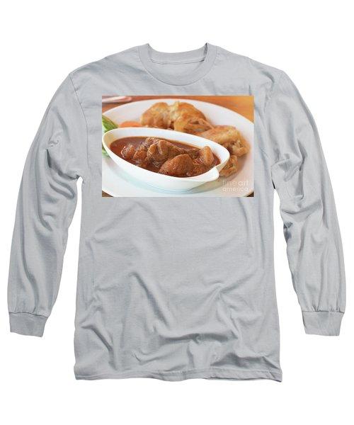 Long Sleeve T-Shirt featuring the photograph Chicken Massaman Curry by Atiketta Sangasaeng
