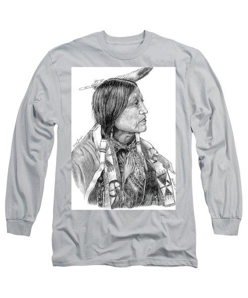Chief Joseph Of Nes Perce Long Sleeve T-Shirt by Bill Hubbard