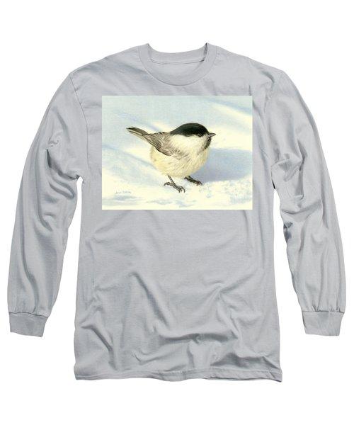 Chilly Chickadee Long Sleeve T-Shirt by Sarah Batalka