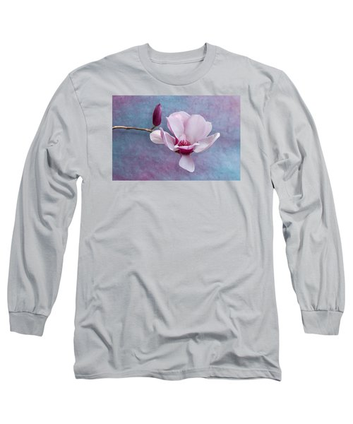 Chinese Magnolia Flower With Bud Long Sleeve T-Shirt