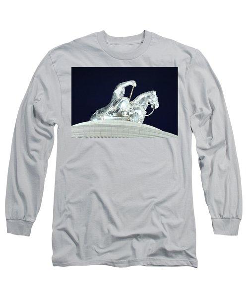 Chinggis Khan/tsagaan Sar Long Sleeve T-Shirt by Diane Height