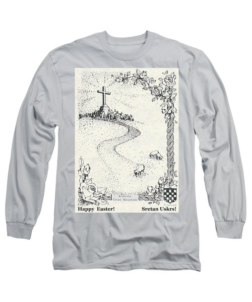 Christ Is Risen  Long Sleeve T-Shirt by Christina Verdgeline