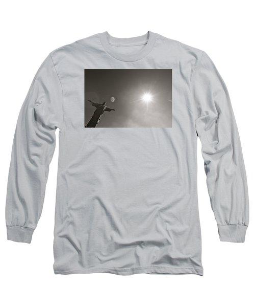 Christ The Redeemer Long Sleeve T-Shirt by Mark Nowoslawski