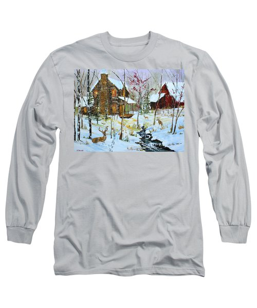 Christmas Cabin Long Sleeve T-Shirt