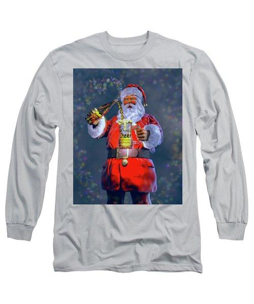 Christmas Cheer Iv Long Sleeve T-Shirt by Dave Luebbert