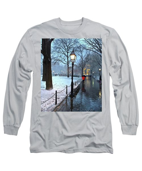 Christmas In Central Park Long Sleeve T-Shirt