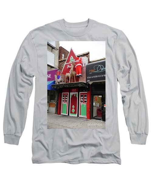 Long Sleeve T-Shirt featuring the photograph Christmas On Sherman Avenue  by Cole Thompson