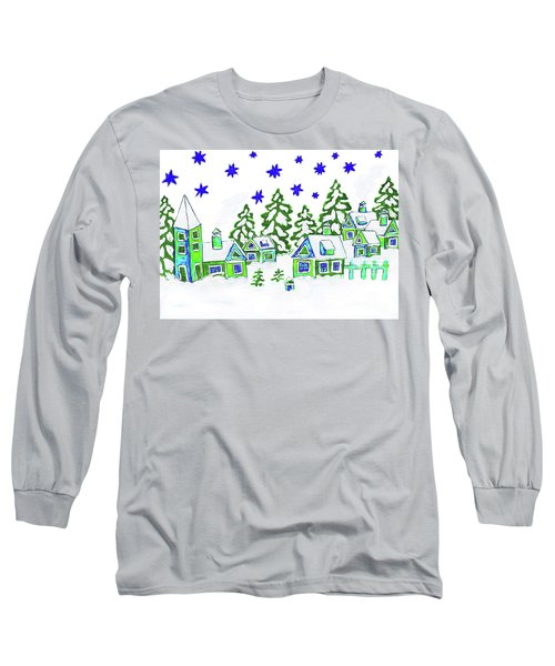 Christmas Picture, Painting Long Sleeve T-Shirt by Irina Afonskaya
