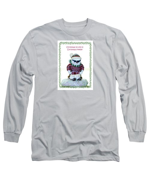 Christmas Skier Long Sleeve T-Shirt
