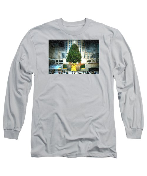 Christmas Tree 2015 Long Sleeve T-Shirt by Diana Angstadt