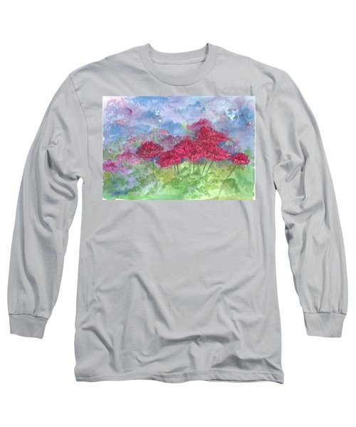 Long Sleeve T-Shirt featuring the painting Chrysanthemums by Cathie Richardson