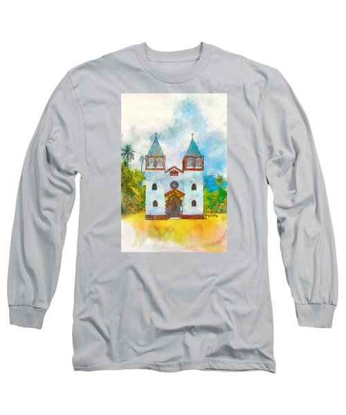 Church Of The Holy Family Long Sleeve T-Shirt by Greg Collins