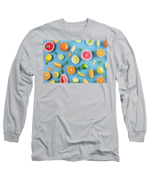 Citrus Summer Long Sleeve T-Shirt by Anastasy Yarmolovich