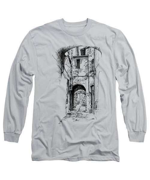 Citta Di Castello Dip Pen Sketch Long Sleeve T-Shirt