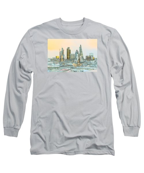 City Of London Outline Poster  Long Sleeve T-Shirt