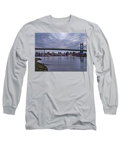 City Scape From Astoria Park Long Sleeve T-Shirt by Mikki Cucuzzo