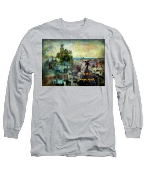 Long Sleeve T-Shirt featuring the photograph Cityscape 38 - Homeless Angels by Alfredo Gonzalez