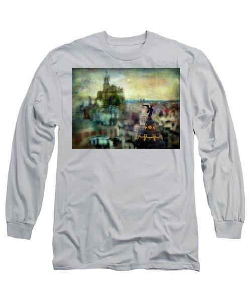 Cityscape 38 - Homeless Angels Long Sleeve T-Shirt