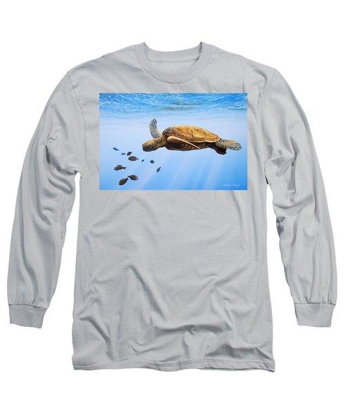 Clear Blue Long Sleeve T-Shirt