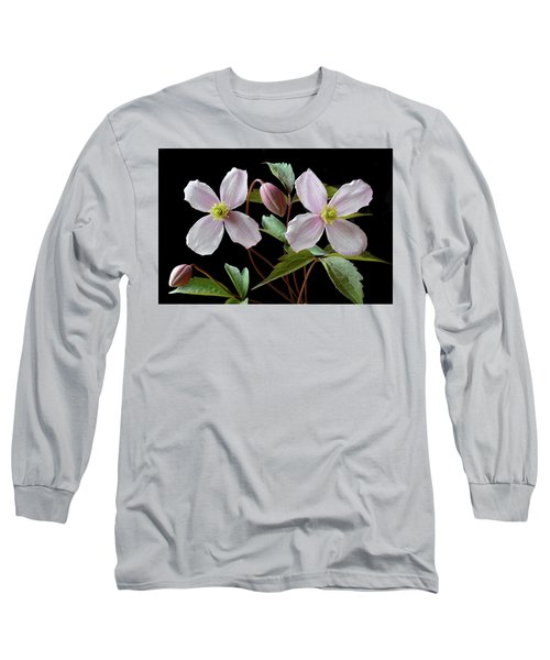 Long Sleeve T-Shirt featuring the photograph Clematis Montana Rubens by Terence Davis