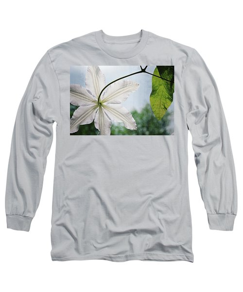 Long Sleeve T-Shirt featuring the photograph Clematis Vine And Leaves by Michelle Calkins