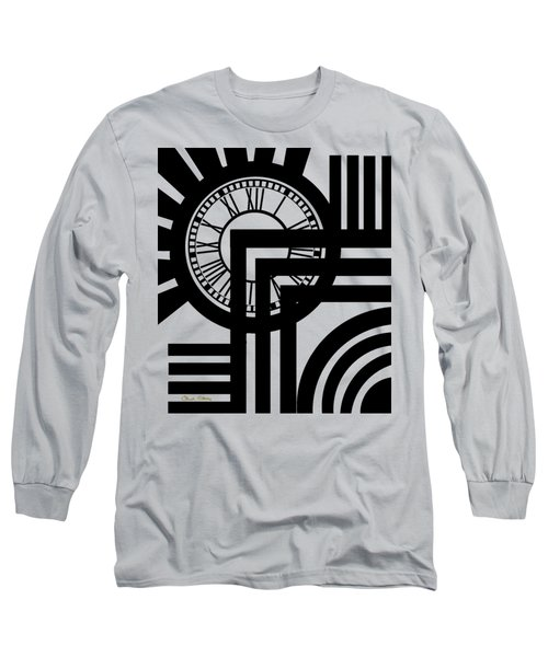 Clock Design Vertical Long Sleeve T-Shirt