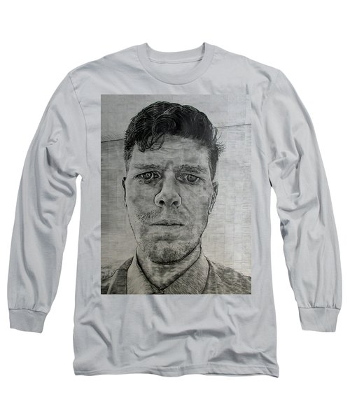 Close Self Portrait Long Sleeve T-Shirt by Denny Morreale