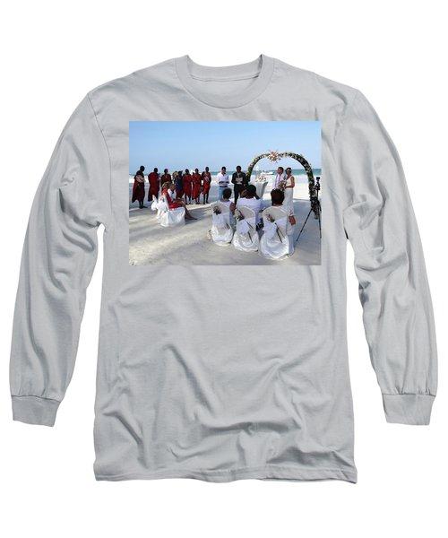 Close Up Kenya Baach Wedding Long Sleeve T-Shirt