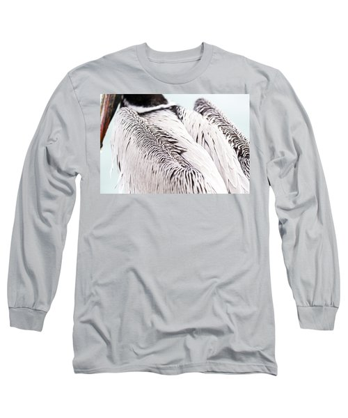 Close-up Of Brown Pelican Long Sleeve T-Shirt