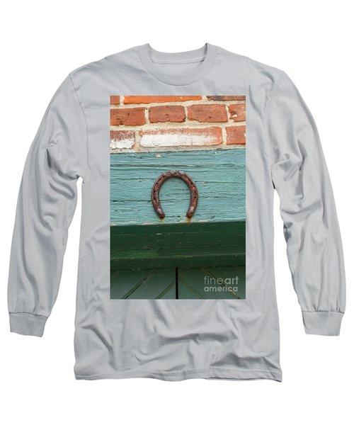 Close Up Of Rusty Horseshoe Long Sleeve T-Shirt