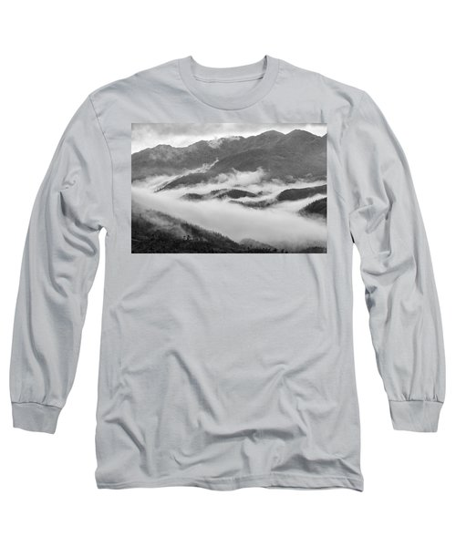 Long Sleeve T-Shirt featuring the photograph Clouds In Valley, Sa Pa, 2014 by Hitendra SINKAR
