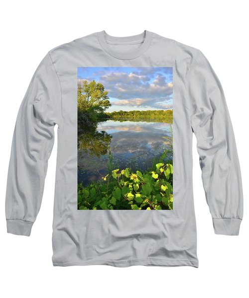 Clouds Mirrored In Snug Harbor Long Sleeve T-Shirt