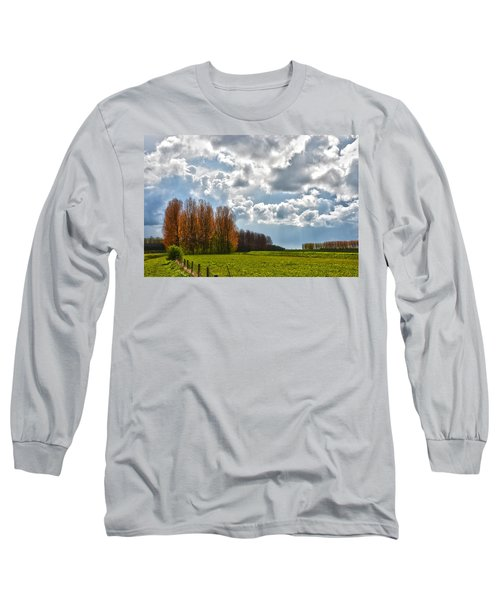 Clouds Over Voorne Long Sleeve T-Shirt by Frans Blok
