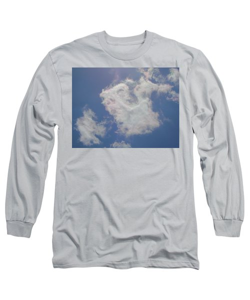 Clouds Rainbow Reflections Long Sleeve T-Shirt by Cindy Croal