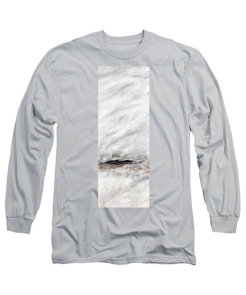 Coast #14 Ocean Landscape Original Fine Art Acrylic On Canvas Long Sleeve T-Shirt