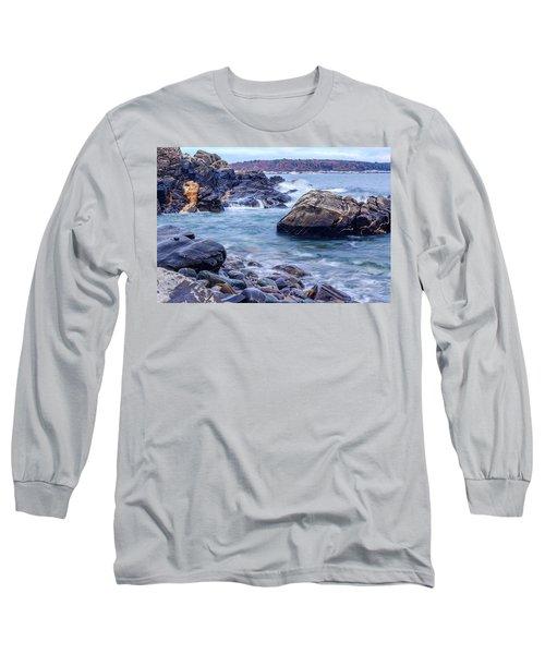 Coast Of Maine In Autumn Long Sleeve T-Shirt