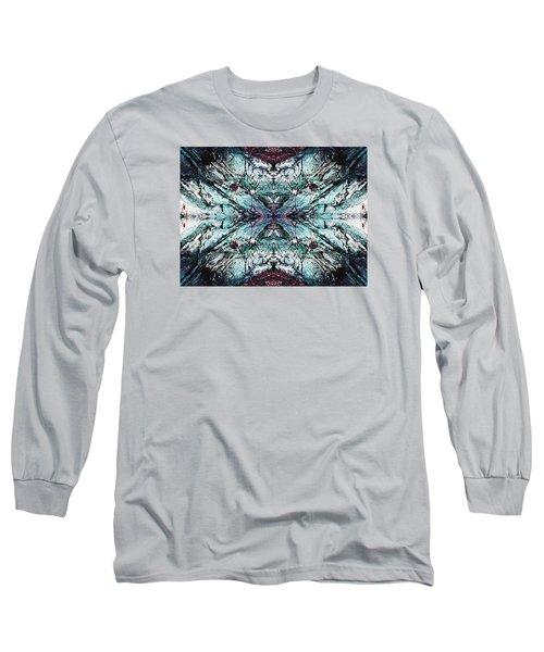 Coastal Rocks Brillig Turquoise Kaleidoscope Effect Long Sleeve T-Shirt