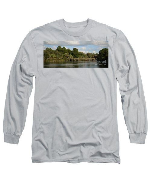 Long Sleeve T-Shirt featuring the photograph Coastal Serenity by Pamela Blizzard